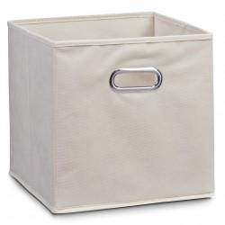 Boite de rangement en tissu beige, 28 x 28 x 28 cm Zeller