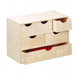 Caisson de rangement en bois 6 tiroirs zeller 13193