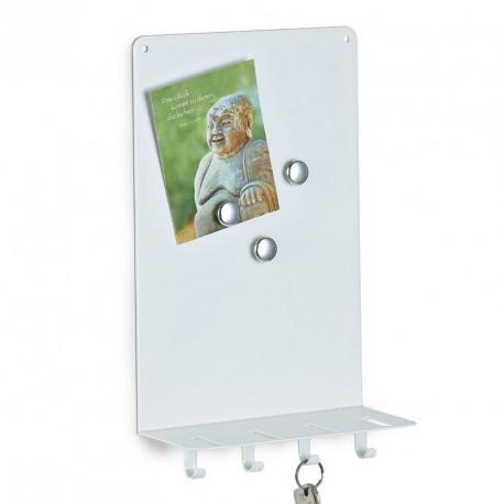 Tableau mémo magnétique porte-clés blanc zeller 13855