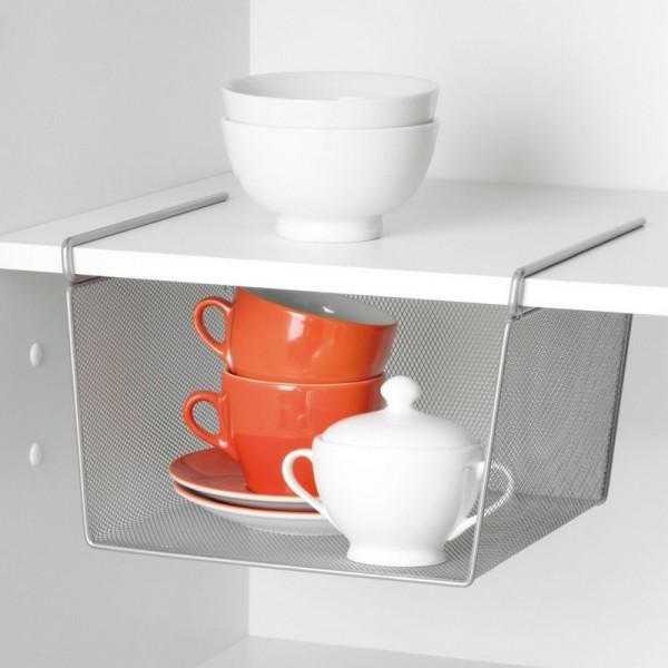panier de rangement suspendre sous etagere zeller 17753. Black Bedroom Furniture Sets. Home Design Ideas