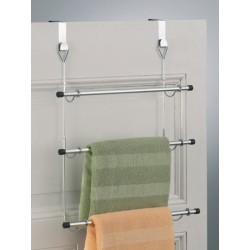 Porte-serviettes à suspendre sur porte métal chromé zeller