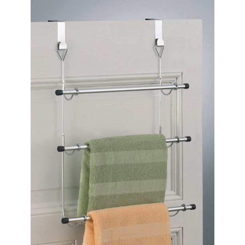 Porte serviettes a suspendre sur porte m tal chrom zeller 18400 - Porte serviette a suspendre ...