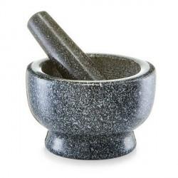 Mortier pilon granit gris anthracite zeller