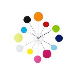 Grande horloge murale karlsson water lily multicolore