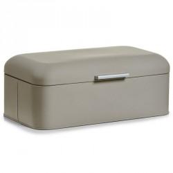 Boîte à pain design grise zeller rubber