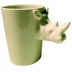 Mug anse animal rhinocéros