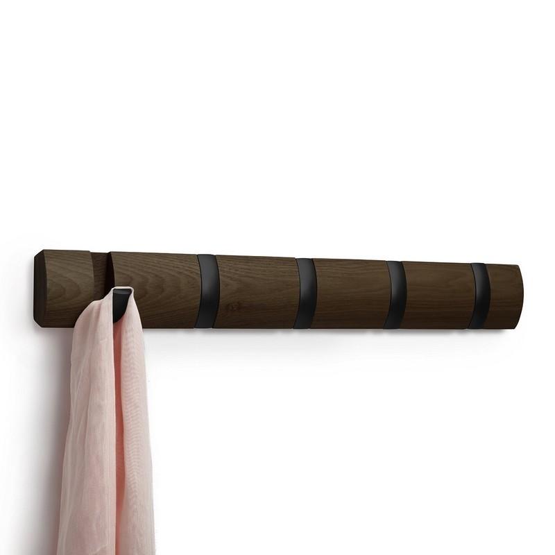 portemanteau umbra flip black wood. Black Bedroom Furniture Sets. Home Design Ideas