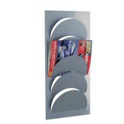 Porte-revues mural design en métal zeller