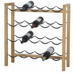 Range-bouteilles de vin 20 bouteilles métal bois zeller