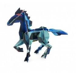 Statue en carton cheval frysk horse studio roof
