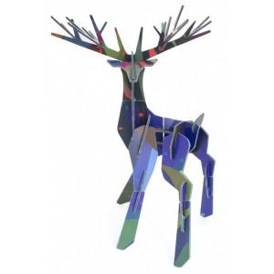 Sculpture carton grand cerf de la forêt studio roof