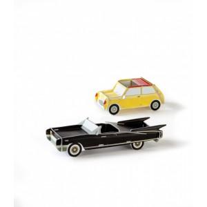 Voitures miniatures en carton cool car studio roof (set de 2)