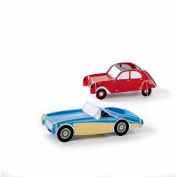 Voiture miniature decorative carton studio roof IMA3