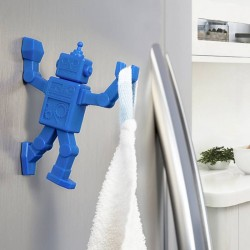 Patère aimantée robot bleu robohook peleg design