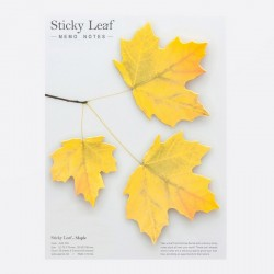 Appree - Large Autumn Leaf Sticky Note (Maple - Yellow)