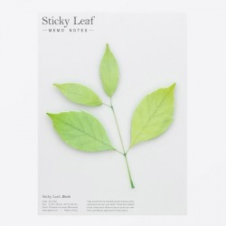 Appree Sticky Leaf Notes Green Birch Large