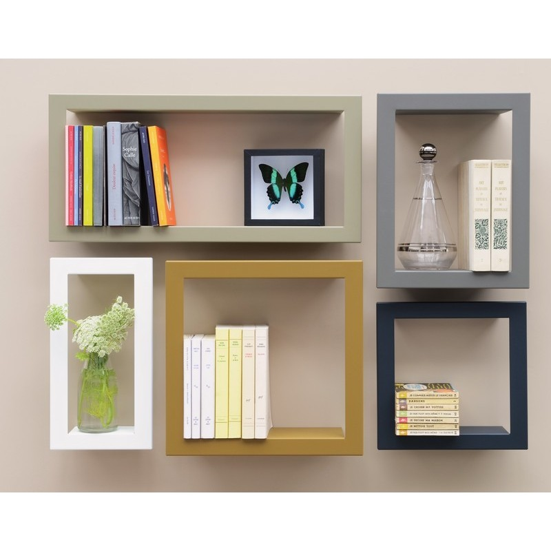 cadre etagere murale presse citron big high lichen. Black Bedroom Furniture Sets. Home Design Ideas