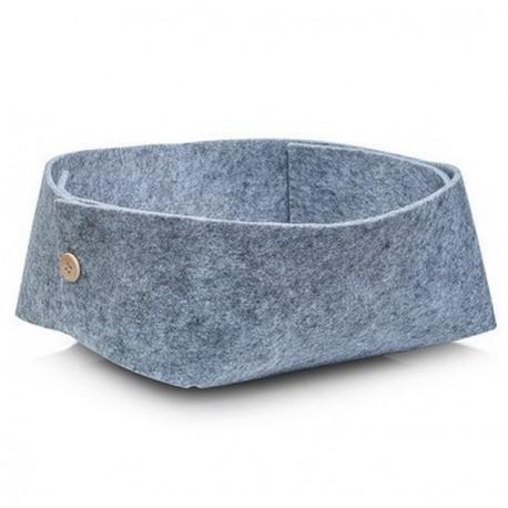 Corbeille en feutrine grise design zeller