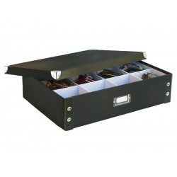 Boîte rangement cravates et ceintures carton noir zeller