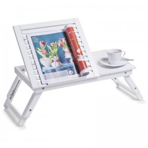 table de lit plateau inclinable en bois blanc zeller 24042
