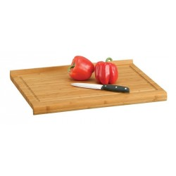 Planche à découper en bambou avec rebord zeller 48 x 38 cm