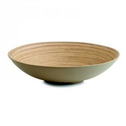 saladier corbeille en bois de bambou taupe zeller 25141