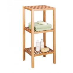 etagere salle de bains 3 etages bois bambou zeller 13574