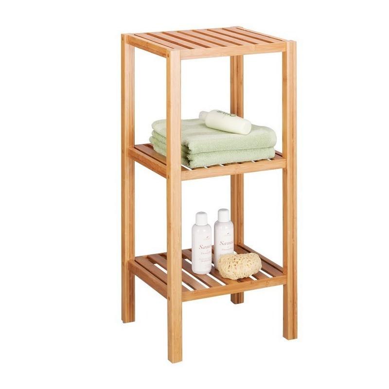 etagere salle de bains 3 etages bois bambou zeller 13574. Black Bedroom Furniture Sets. Home Design Ideas