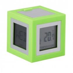 Réveil vert design lexon cubissimo