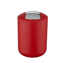 Wenko 21216100 Brasil poubelle à bascule rouge design