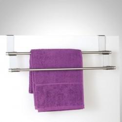 Porte-serviette pour dessus de porte acier inox zeller
