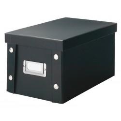 Boîte rangement CD en carton noir Zeller