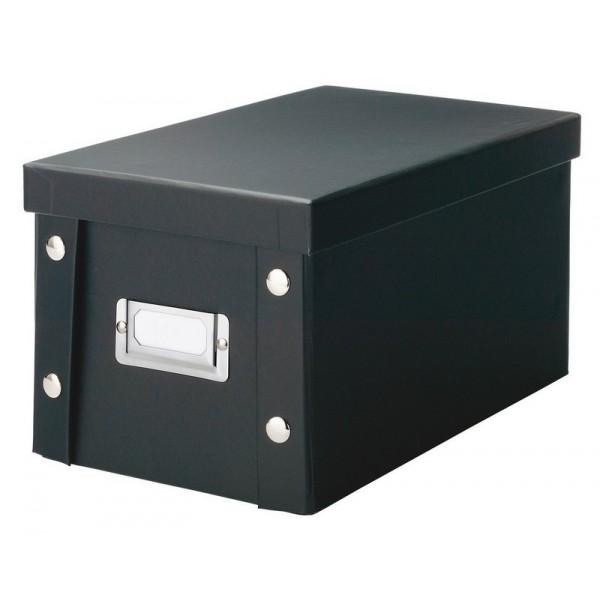 zeller 17938 boite rangement cd en carton noir. Black Bedroom Furniture Sets. Home Design Ideas