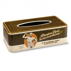 Boîte à mouchoirs vintage Slip d'or