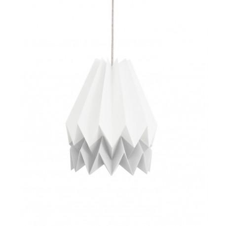 Lampe suspension origami papier blanc gris orikomi