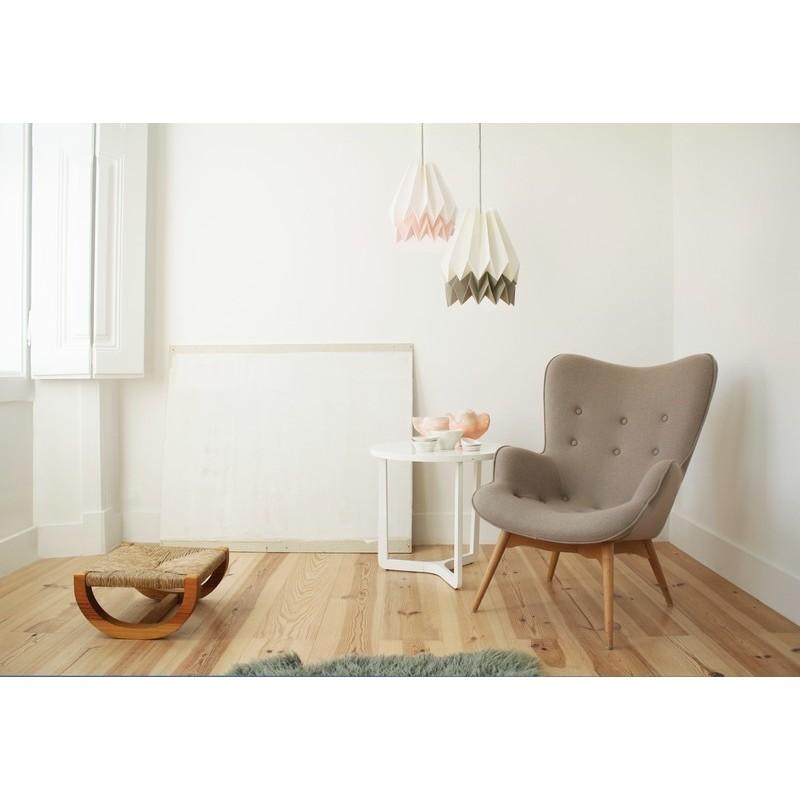 lampe papier origami blanc taupe orikomi. Black Bedroom Furniture Sets. Home Design Ideas