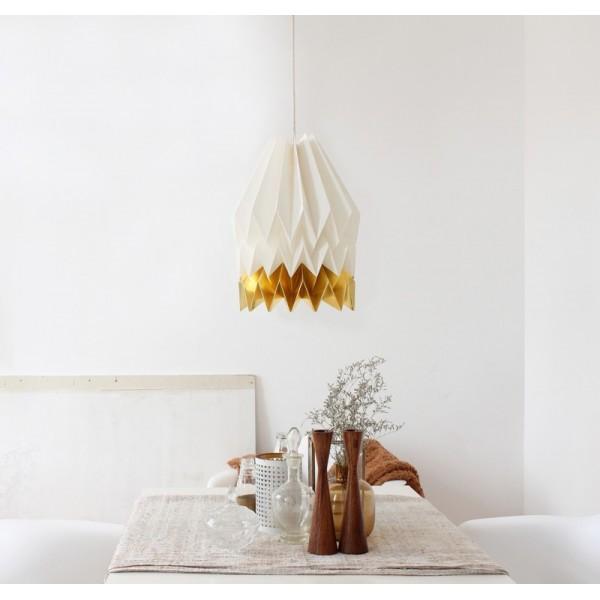 orikomi suspension en papier origami blanc or ori xl s wg. Black Bedroom Furniture Sets. Home Design Ideas