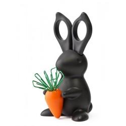 Ciseaux de bureau lapin Qualy Bunny noir