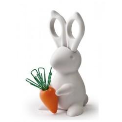 Lapin accessoire de bureau Qualy bunny blanc
