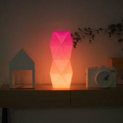 Lampe à poser en papier design rose orange Tower Lamp Tuna Paper
