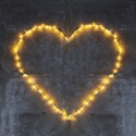 Coeur lumineux led fil de fer blanc sirius liva heart