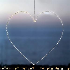 Décoration lumineuse coeur fil de fer sirius liva heart