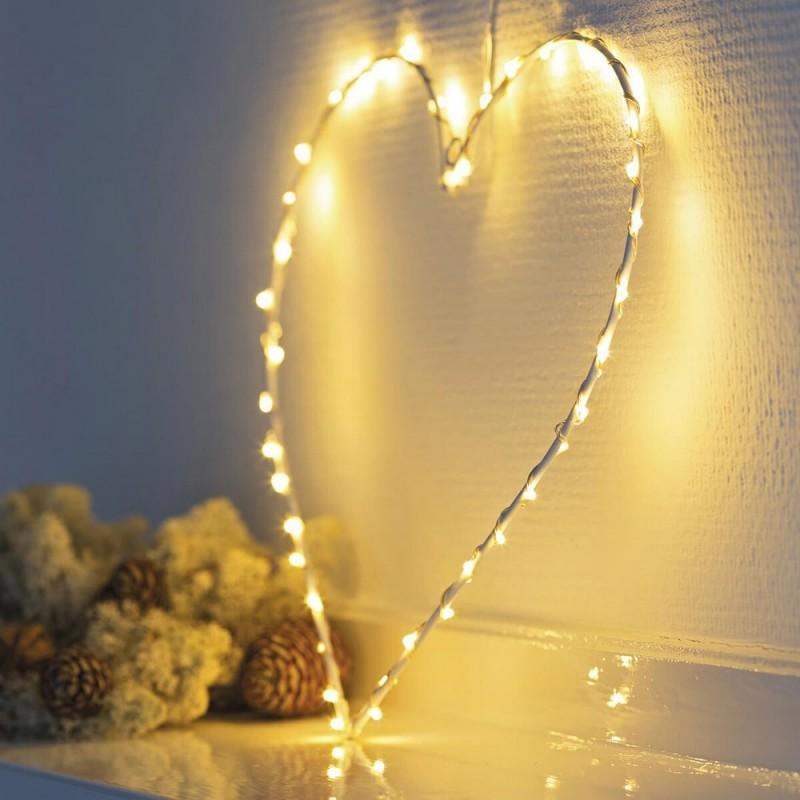 Decoration lumineuse coeur fil de fer sirius liva heart 41280 for Decoration lumineuse