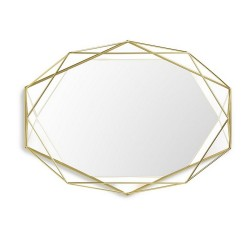 Umbra Prisma Mirror, Metal Brass Colour