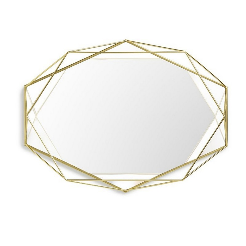 Umbra 358776 165 prisma miroir laiton for Miroir laiton