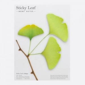 Notes sticky leaf gingko printemps appree
