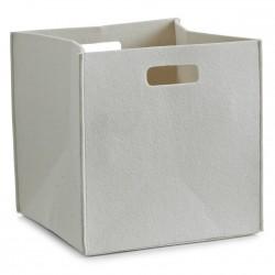 Panier cube feutre beige zeller 32 x 32 x 32 cm
