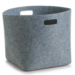 Corbeille design feutre gris zeller 14331