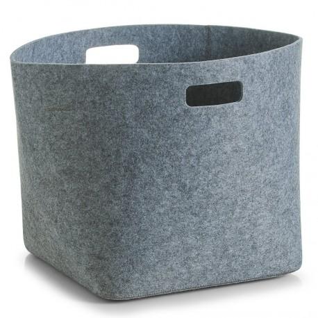 Corbeille design feutre gris zeller 32 x 32 x 32 cm
