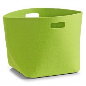 Corbeille design feutre vert zeller 32 x 32 x 32 cm